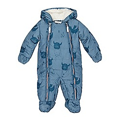 Mantaray - Baby boys' blue viking print snowsuit