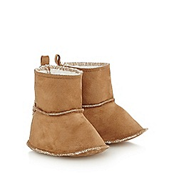 Mantaray - Baby girls' tan suedette booties