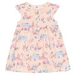 Mantaray - Baby girls' pink elephant print dress