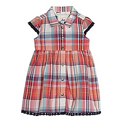 Mantaray - Baby girls' multi-coloured checked shirt dress