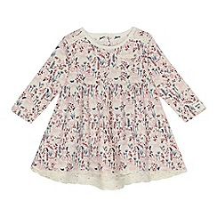 Mantaray - Baby girls' cream floral print dress