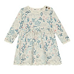 Mantaray - Babies cream woodland print jersey dress