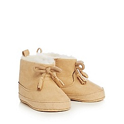 Mantaray - Babies light tan suedette booties