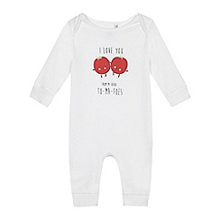 bluezoo - Baby girls' white 'To-ma-toes' sleepsuit