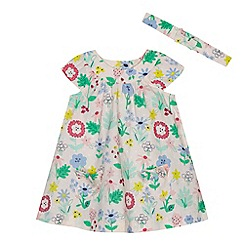 bluezoo - Baby girls' multi-coloured floral print dress and headband
