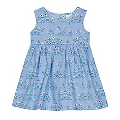 bluezoo - Baby girls' blue floral print dress