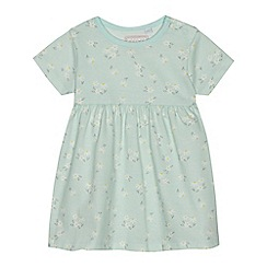 bluezoo - Baby girls' aqua jersey daisy print dress