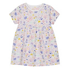 bluezoo - Baby girls' white floral print dress