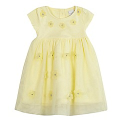 bluezoo - Baby girls' yellow floral applique dress