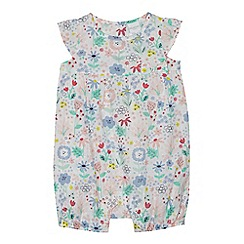 bluezoo - Baby girls' multicoloured floral print romper suit