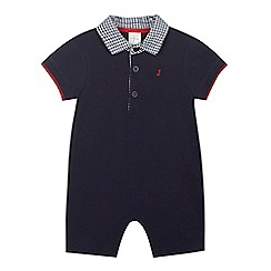J by Jasper Conran - Baby boys' navy polo romper suit