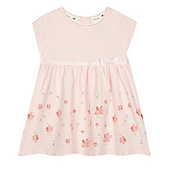 J by Jasper Conran - Baby girls' light pink textured dress