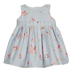 J by Jasper Conran - Baby girls' light blue floral print dress
