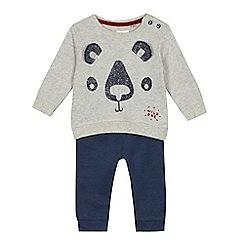 Mantaray - Baby boys' panda print sweatshirt and jogging bottoms