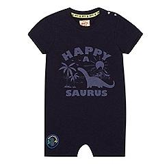 Mantaray - Baby boys' navy jersey dinosaur print romper suit
