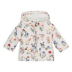 Mantaray - Baby girls' pink floral print jacket