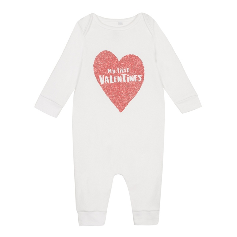 57e17cbfee6 bluezoo Babies' White 'My First Valentines' Print Sleepsuit - £2.10 -  Bullring & Grand Central