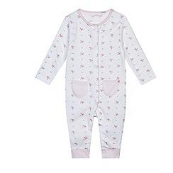 J by Jasper Conran - Baby girls' pink sleepsuit and bib set
