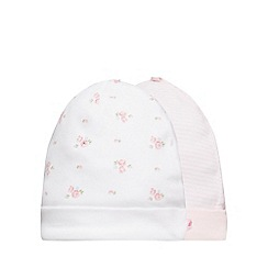 J by Jasper Conran - Pack of two baby girls' printed jersey hats