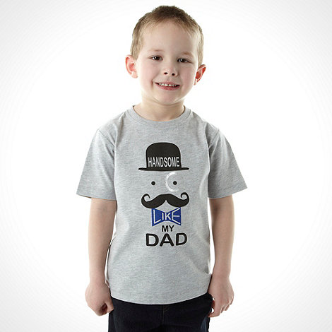bluezoo - Boy's grey printed top