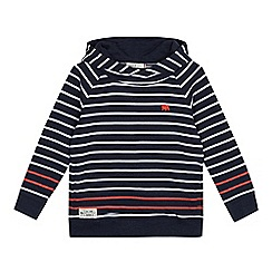 J by Jasper Conran - Boys' navy striped hoodie