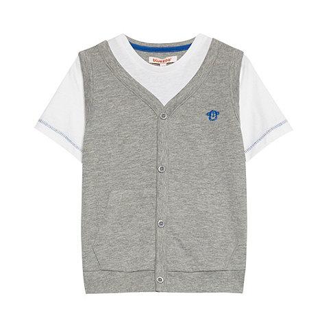 bluezoo - Boy+s grey mock waistcoat