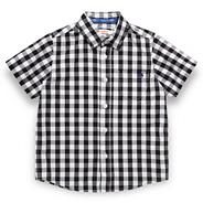 Boy's black gingham shirt
