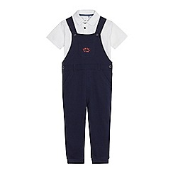 J by Jasper Conran - Boys' navy dungaree set