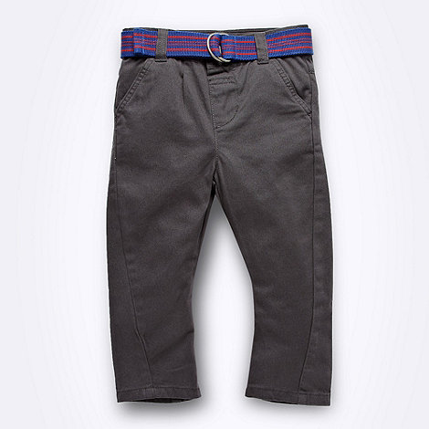 bluezoo - Boy+s grey belted chinos