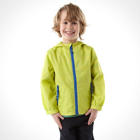 bluezoo - Boy+s yellow lightweight hooded jacket