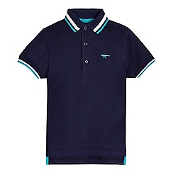 bluezoo - Boys' navy tipped polo shirt