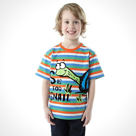 bluezoo - Boy+s multi striped snail top