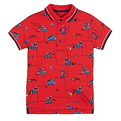 bluezoo - Boys' tractor print polo shirt