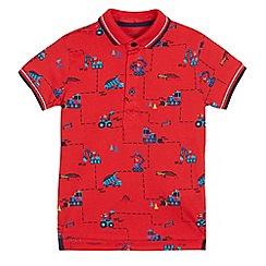 bluezoo - Boys' fire engine print polo shirt