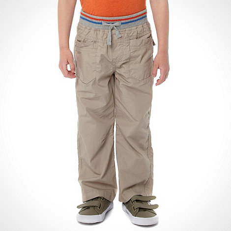 bluezoo - Boy+s beige ribbed trousers