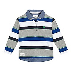 J by Jasper Conran - Boys' multi-coloured striped mock polo shirt