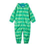 Boy's green monster striped puddlesuit