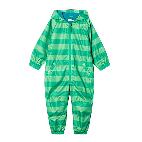 bluezoo - Boy+s green monster striped puddlesuit