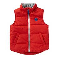 Boy's red padded gilet