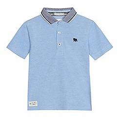 J by Jasper Conran - Boys' light blue pique polo shirt