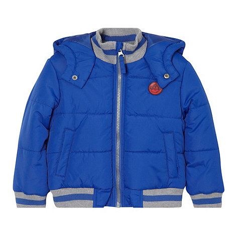 bluezoo - Boy+s blue bomber jacket