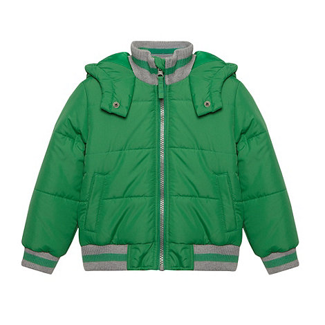 bluezoo - Boy+s green bomber jacket