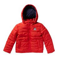 Boy's red bomber jacket