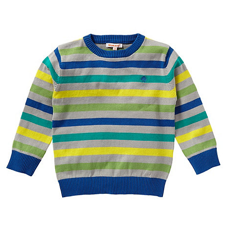 bluezoo - Boy+s multi striped knitted sweater