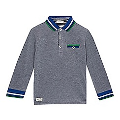 J by Jasper Conran - Boys' blue long sleeved polo shirt