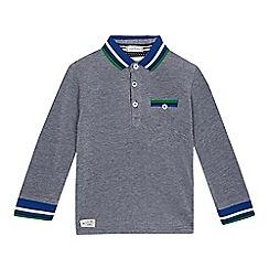 J by Jasper Conran - Boys' blue long sleeved polo shirt