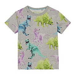 bluezoo - Boys' grey dinosaur print t-shirt