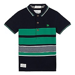 J by Jasper Conran - Boys' navy and green polo shirt