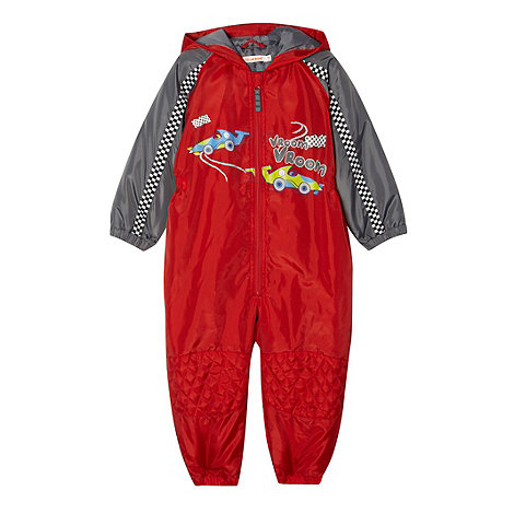 bluezoo - Boy's red padded puddlesuit