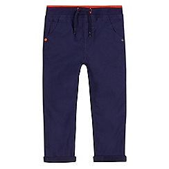 bluezoo - Boys' navy jersey lined poplin trousers